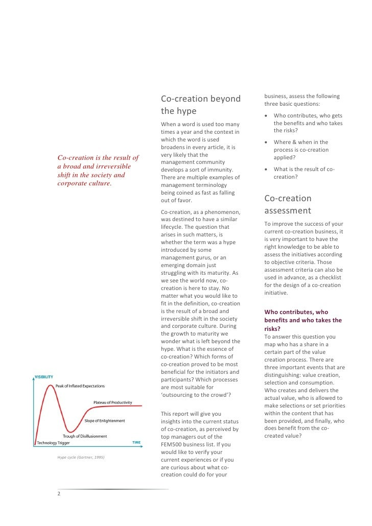 Co creation beyond the hype global survey Slide 2