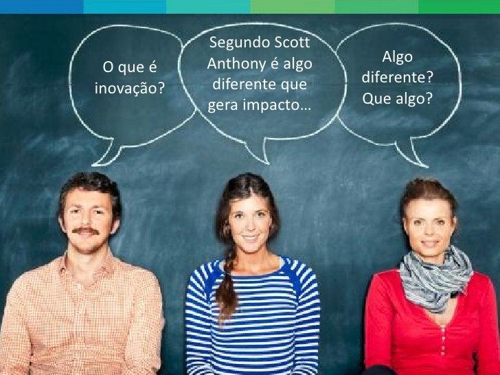 Segundo Scott            Anthony é algo      Algo O que é             diferente que   diferente?inovação?            gera ...