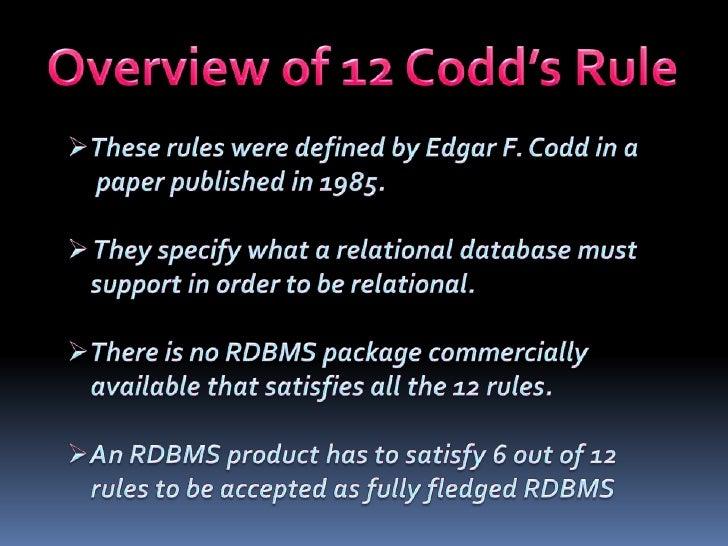 Codd rules