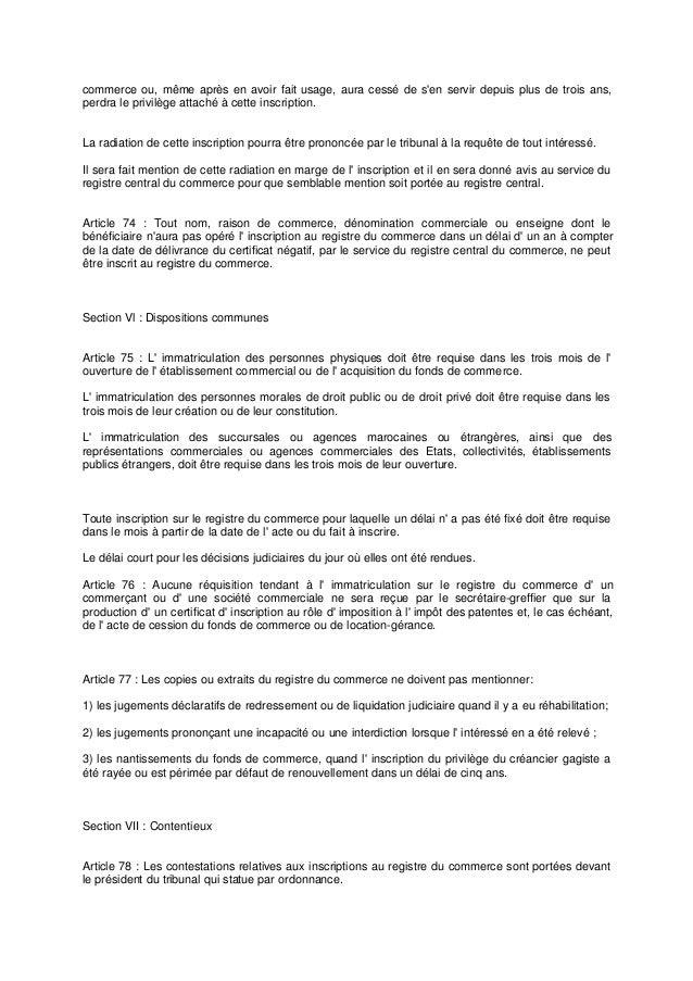 Code De Commerce Marocain Loi N 15951