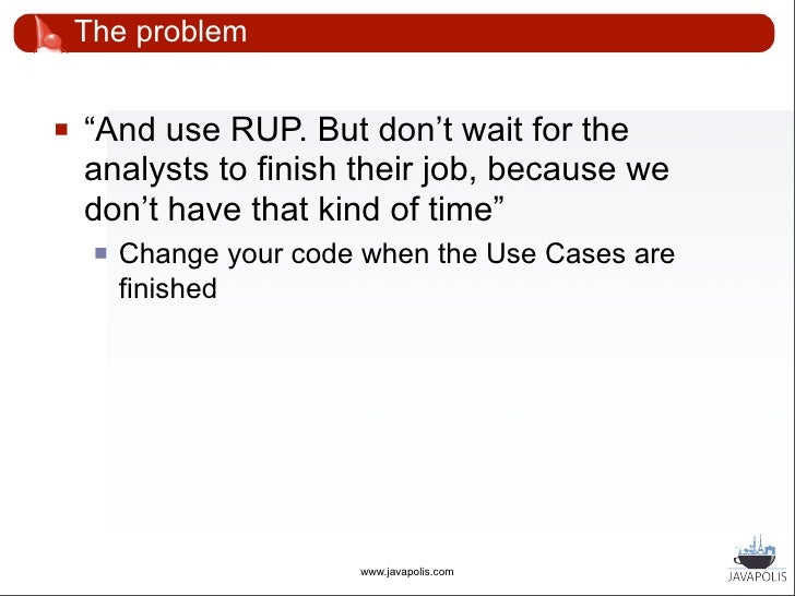 """The problem      """"(And don't wait for the data modellers       either. We really don't have any time.)""""                  ..."""