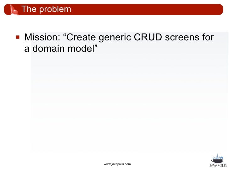 """The problem       """"Our domain model will likely contain a few       hundred classes""""                           www.javapo..."""
