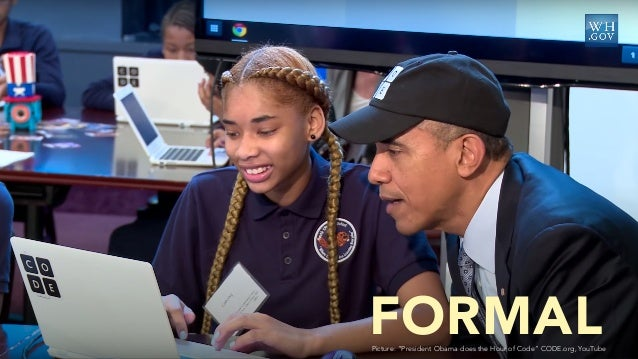 """Picture: """"President Obama does the Hour of Code"""" CODE.org, YouTube FORMAL"""