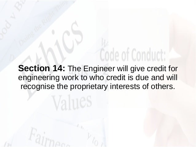 Code of Ethics & Code of Conduct as a Profesional Engineer