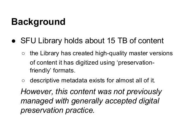 SFU Library's METS-Bagger Tool Slide 2