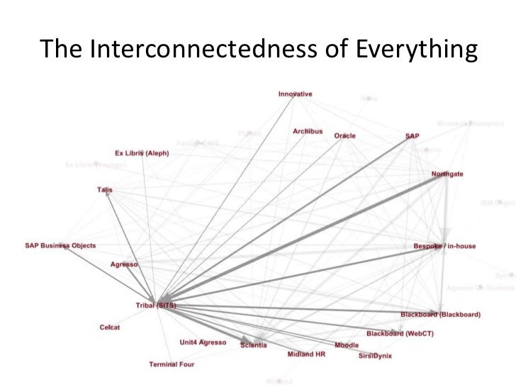The Interconnectedness of EverythingPicture by Flickr user pdragon