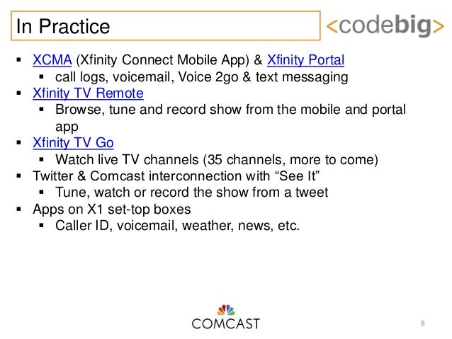 Comcast Codebig: An API Platform & Program