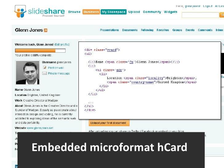 §<br />Embedded microformathCard<br />