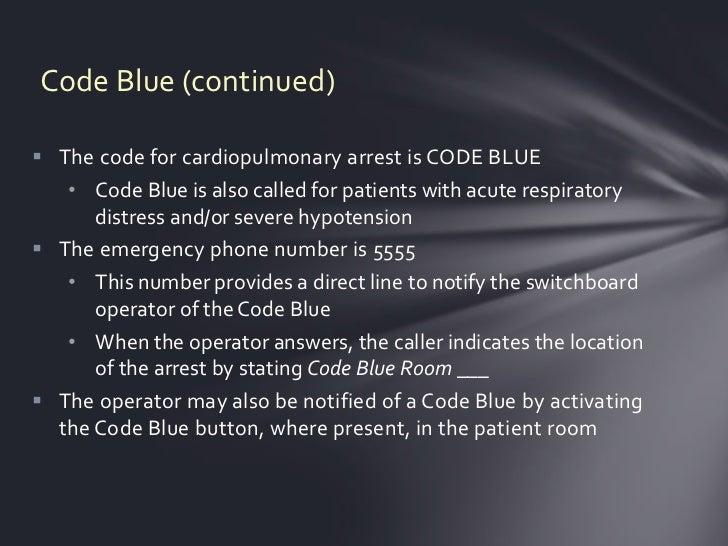Code blue Slide 3