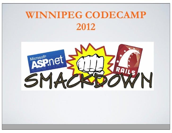 WINNIPEG CODECAMP       2012