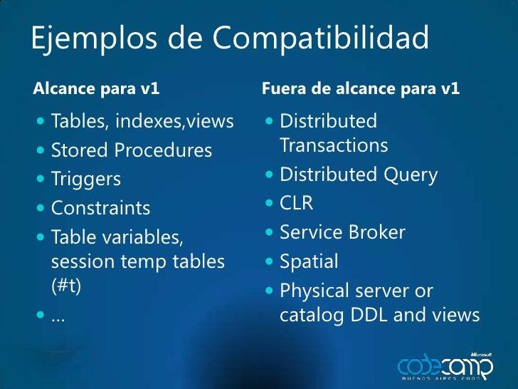 Tables<br />Entidades y propiedades (filas & columnas)<br />El alcance es por cuenta<br />Diseñada para miles de millones<...