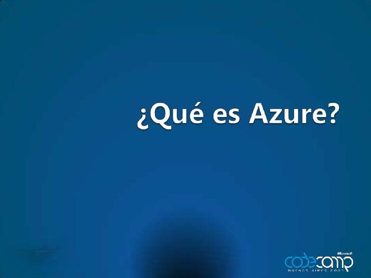 ¿Qué es Azure?<br />