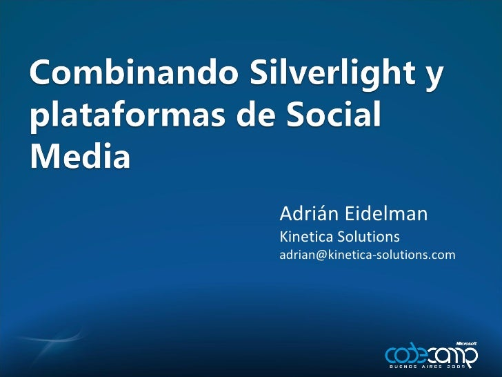 Adrián Eidelman Kinetica Solutions [email_address]