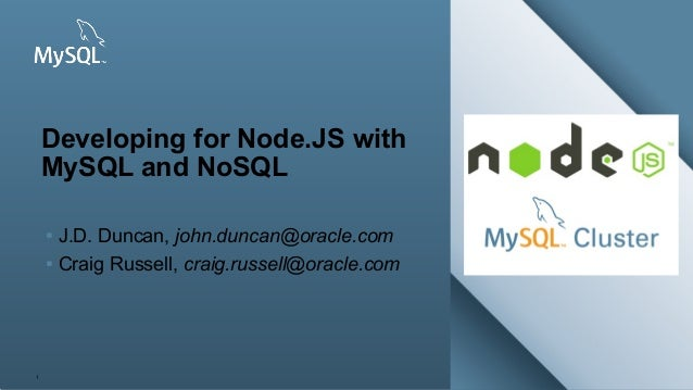 Copyright © 2013, Oracle and/or its affiliates. All rights reserved. Insert Picture Here 1 Developing for Node.JS with MyS...