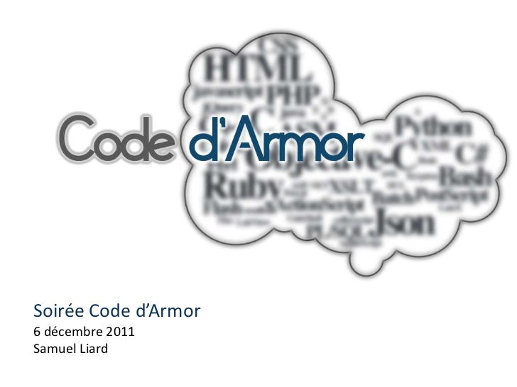 Soirée Code d'Armor6 décembre 2011Samuel Liard