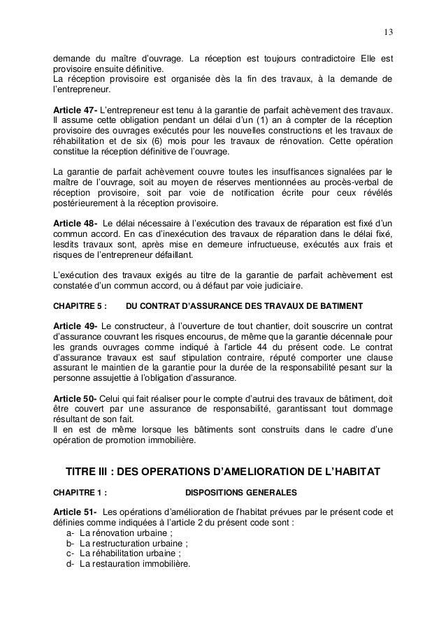 Code De Construction De La Guinee