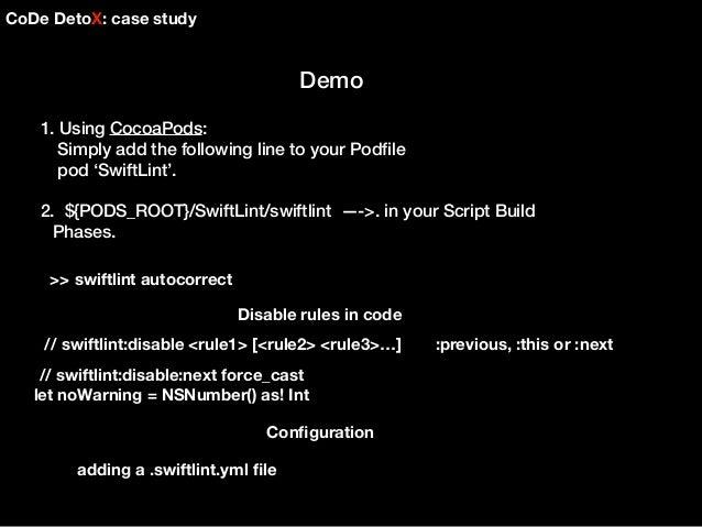 Code detox