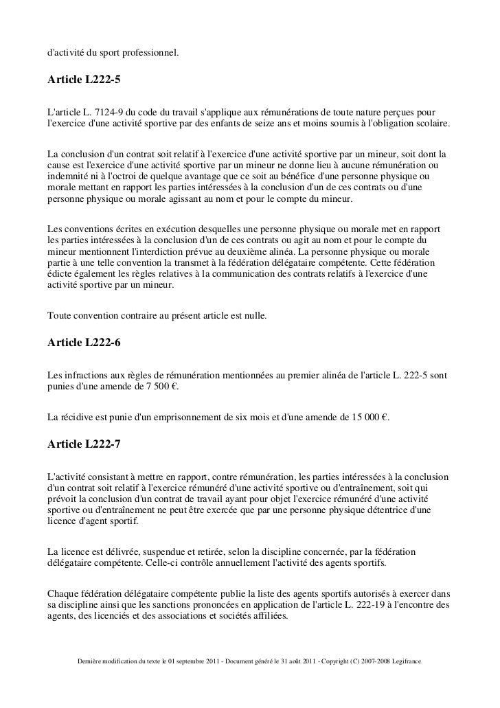 code du travail l222-7