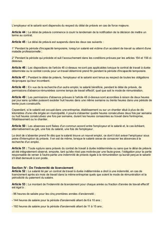 code du travail article 49