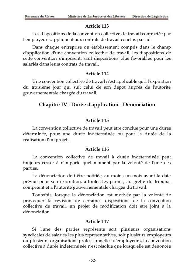 code du travail article 52