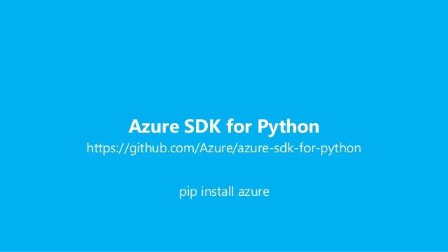 PL] Code Europe 2016 - Python and Microsoft Azure