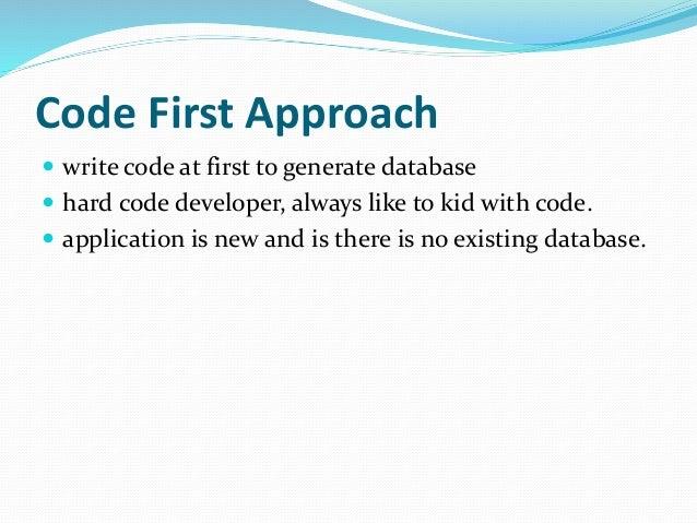 Code first approach in entity framework