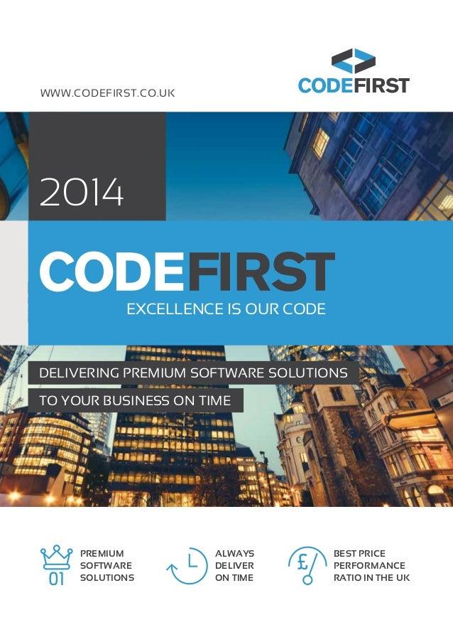CodeFirst Software Development Services Brochure 2014