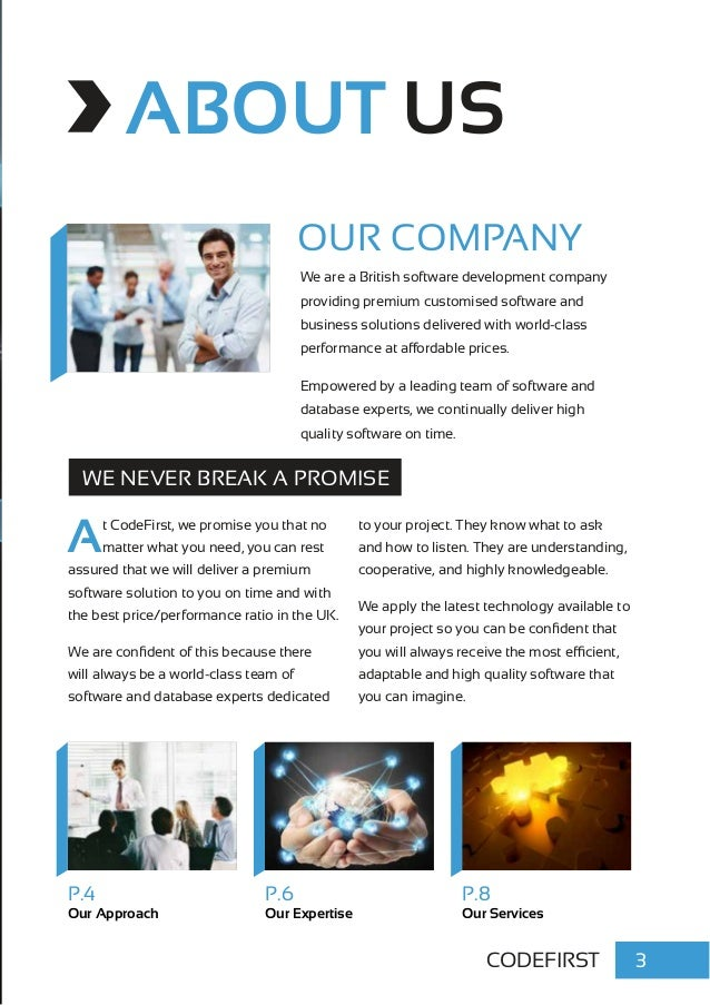 Codefirst Software Development Services Brochure 2014