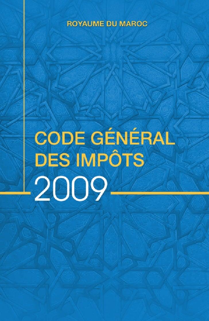 Royaume du MarocCODE GÉNÉRAL DES IMPÔTS        institué par l'article 5 de la loi de   finances n°43-06 pour l'année budgé...