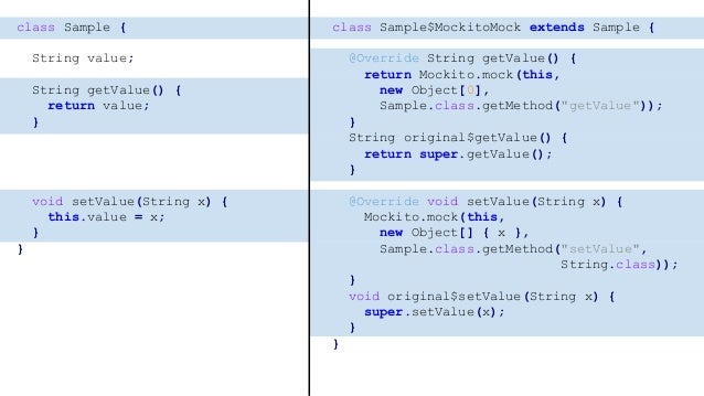 class Sample { var value: String? = null fun getValue() = value fun setValue(x: String?) { this.value = x } } final class ...