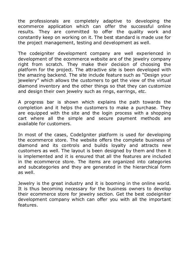 Codeigniter CMS and Portal Development Company for Jewelry