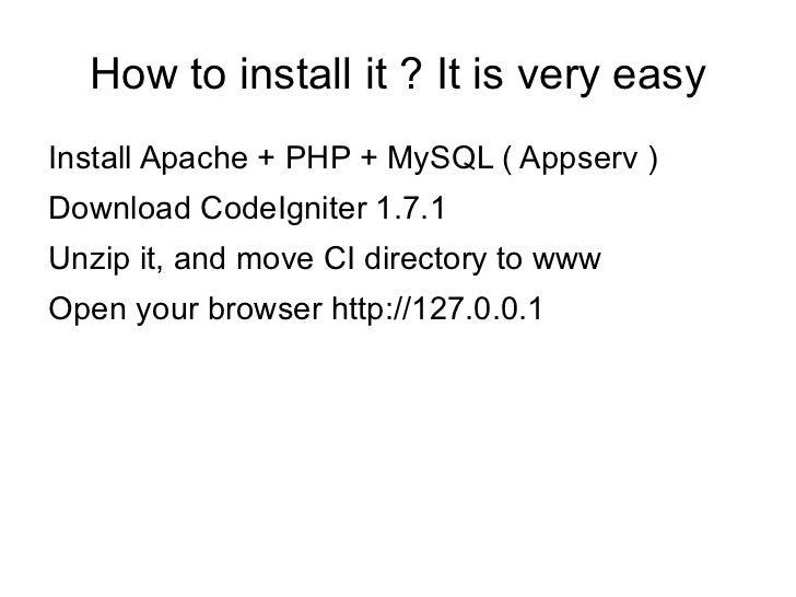 CodeIgniter PHP MVC Framework