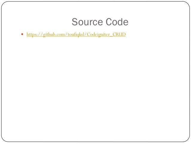 Codeigniter presentation