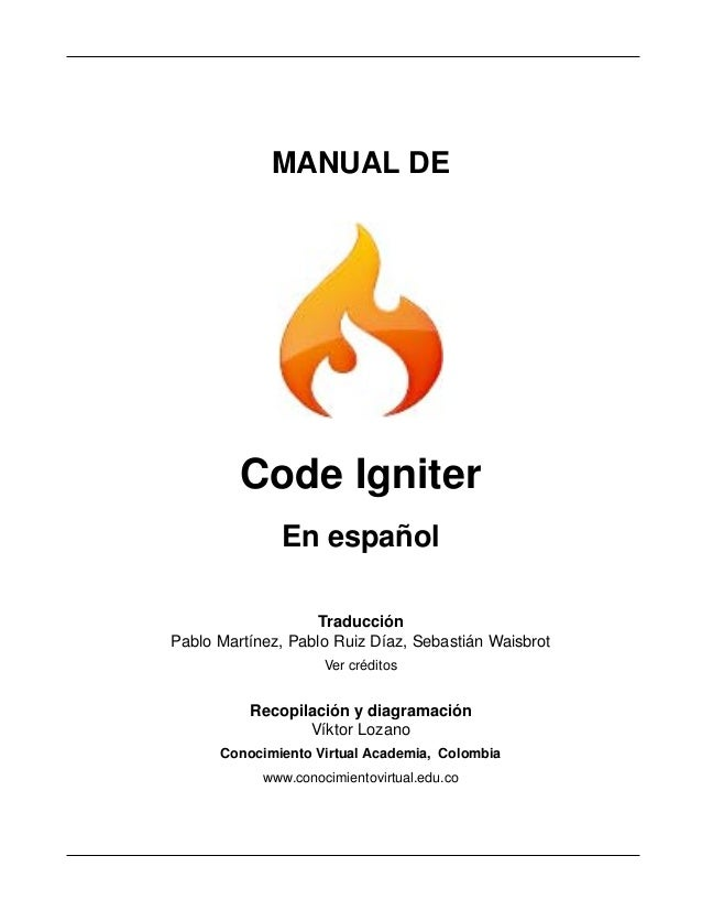 Documentacion de Codeigniter en español