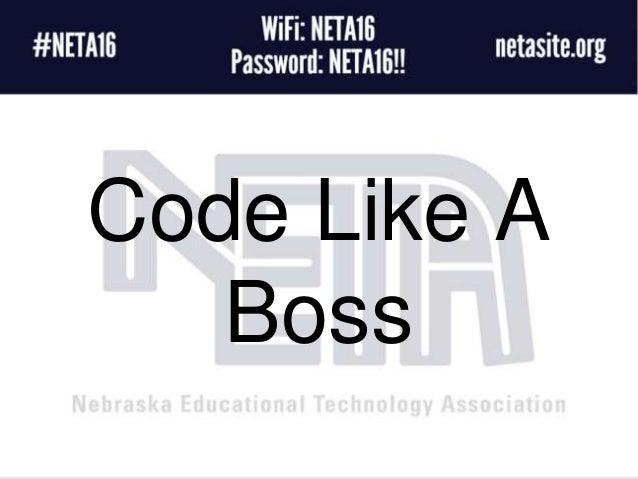 Code Like A Boss