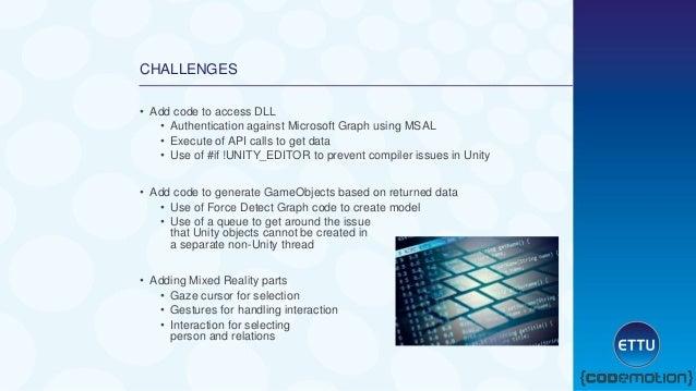 Code motion - Extend visualization of microsoft graph data