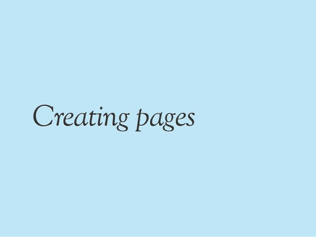 PAUL SAFFO; 4. Creating pages ...