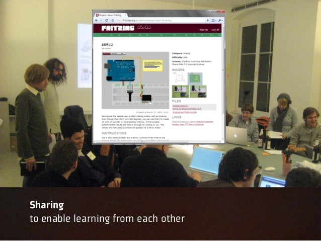 Sharingto enable learning from each other