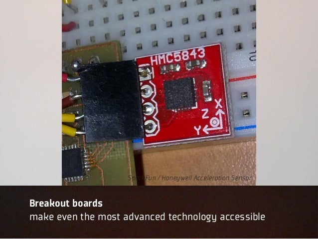 SparkFun / Honeywell Acceleration SensorBreakout boardsmake even the most advanced technology accessible