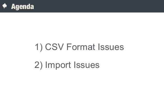 Geospatial csv imports hidden complexity