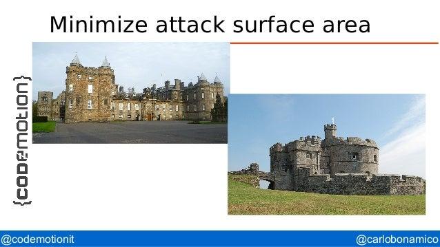 @carlobonamico@codemotionit Minimize attack surface area