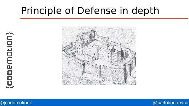 @carlobonamico@codemotionit Principle of Defense in depth