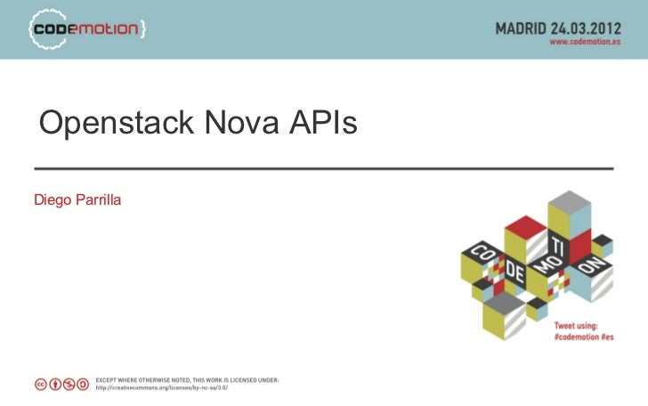 Openstack Nova APIsDiego Parrilla