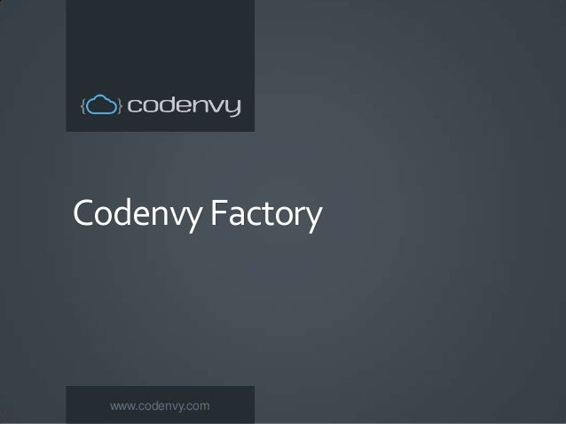  Click to edit Master text styles – Second level  Third level – Fourth level » Fifth level  Codenvy Factory  www.codenvy...