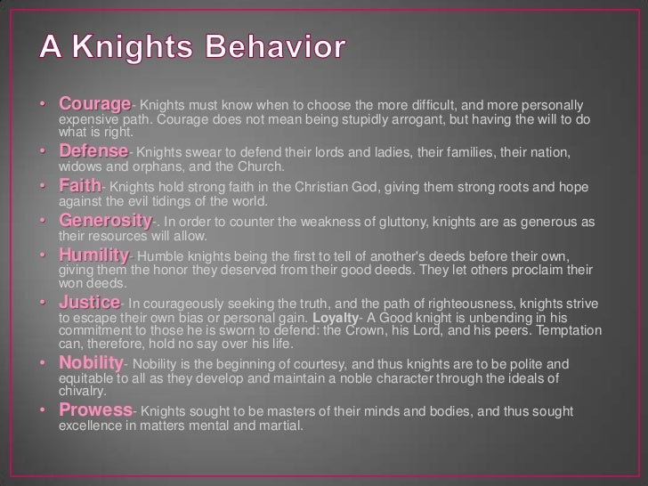 Code of chivalry definition