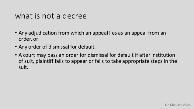 ex parte decree civil procedure code