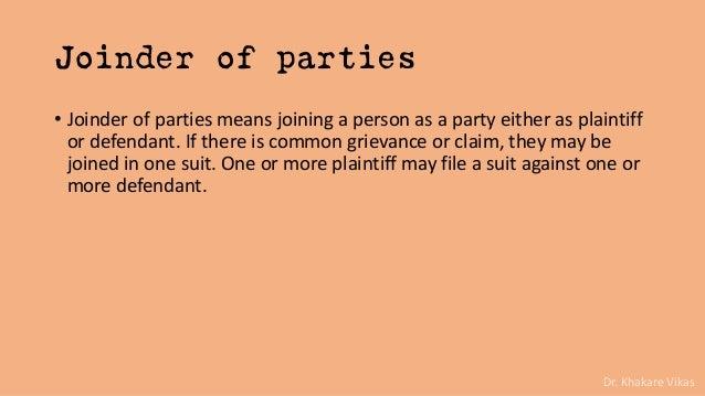 Code Of Civil Procedure 1908 Parties To Suit