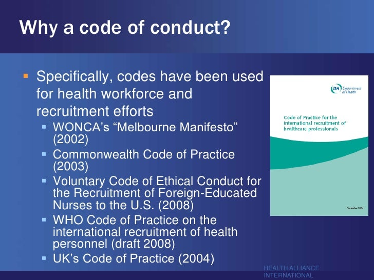 writing an effective global code of conduct