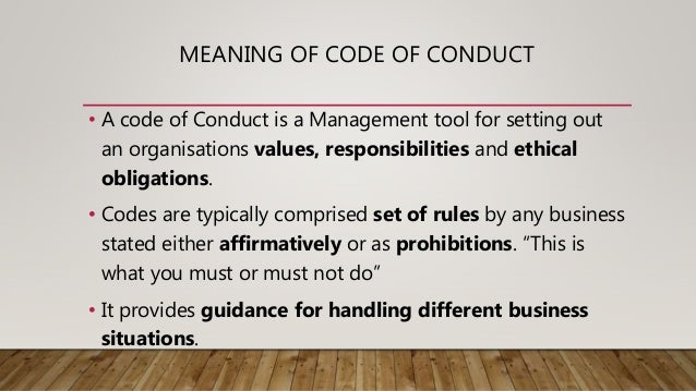 what is the meaning of code of conduct