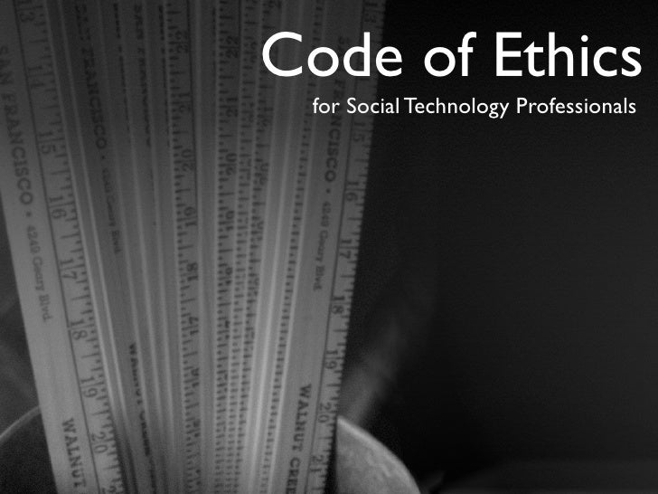 Code of Ethics  for Social Technology Professionals